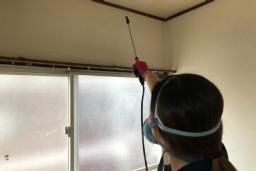お部屋の消毒作業